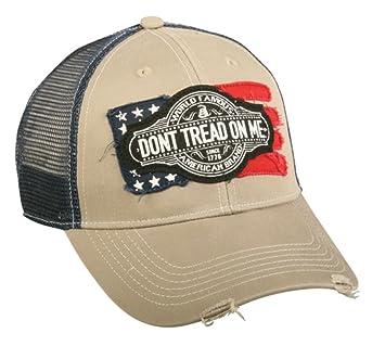 Amazon.com  Don t Tread On Me American Flag Military Mesh Hat ... 9927961fc6d