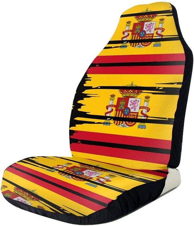 Little Yi Juego de fundas para asientos de bandera de España con ajuste universal para la mayoría de los automóviles: Amazon.es: Ropa y accesorios