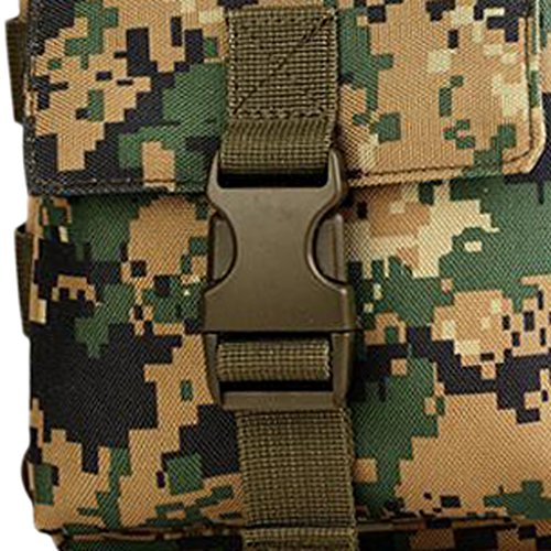 MagiDeal Outdoor Molle Taktische Brusttasche Militärisch Brustbeutel Schultertasche Umhängetasche mit Reißverschluss für Outdoor Sport Trekking Wanderung Bergsteigen Radsport Woodland Digital 815VwE