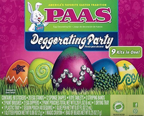 PAAS-Deggorating-Party-9-kits-in-One Easter-EGG decorating (Egg Kit)