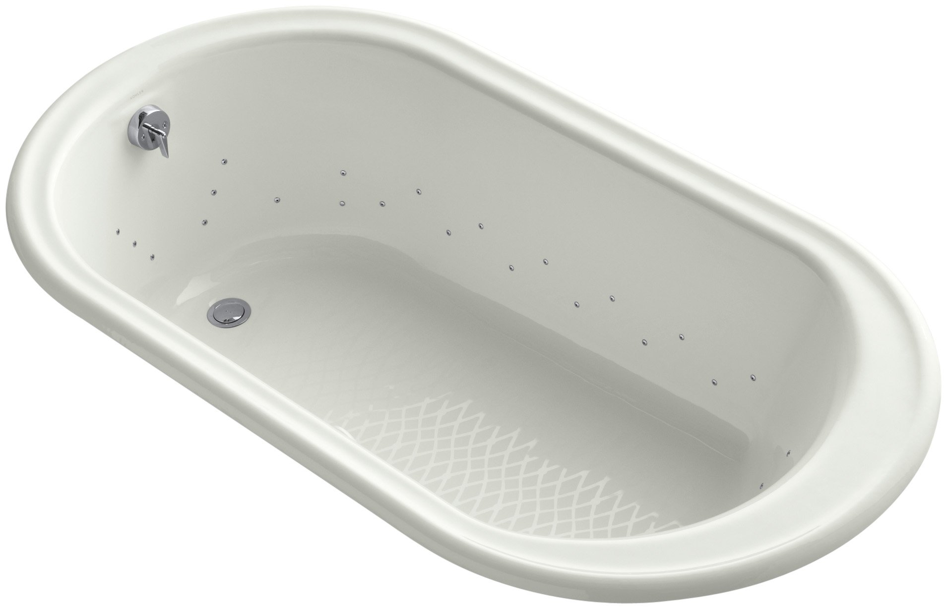 Kohler K-712-GCP-NY Iron Works Bubblemassage 5.5Ft Bath with Polished Chrome Airjet Color, Dune