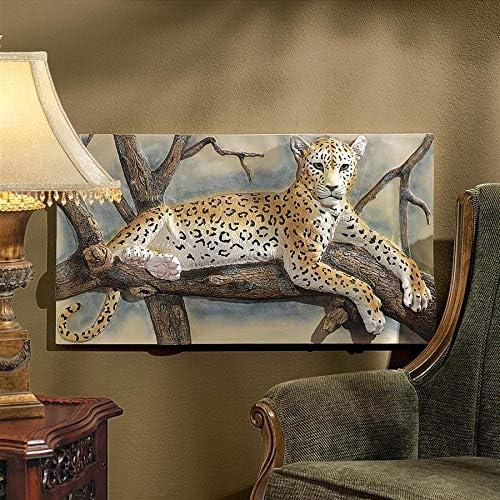 Design Toscano The Leopards Lair Sculptural Wall Frieze