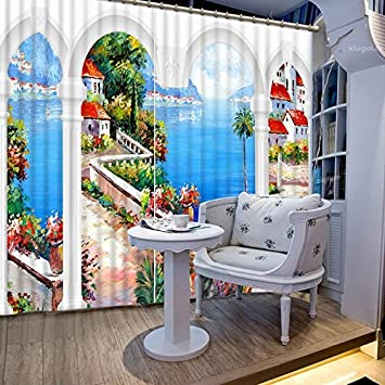 Waple Hochwertige Indoor Dekorationen 3D Druck Moderne Vorhänge Für  Wohnzimmer Lebensechte Schöne Gardinen Wohnzimmer Gardinen