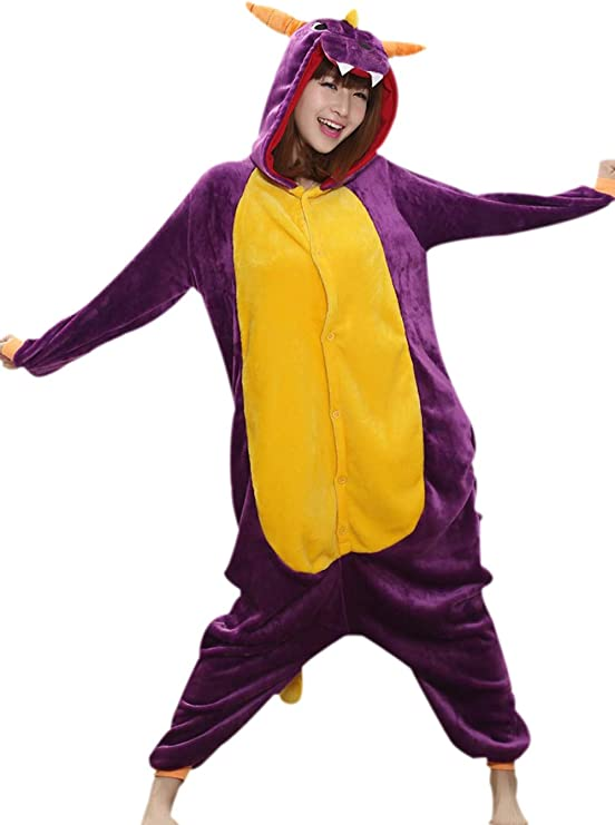 Jysport - Pijama de unicornio, unisex, con capucha de forro polar ...