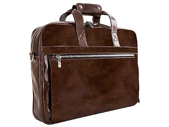 42927e871 Image Unavailable. Image not available for. Color: Bosca Unisex Old Leather  Collection - Single Gusset Stringer Teak Briefcase