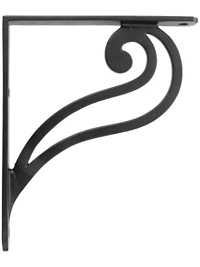 amazon com scroll design iron shelf bracket 7 1 8 x 6 1 8 home