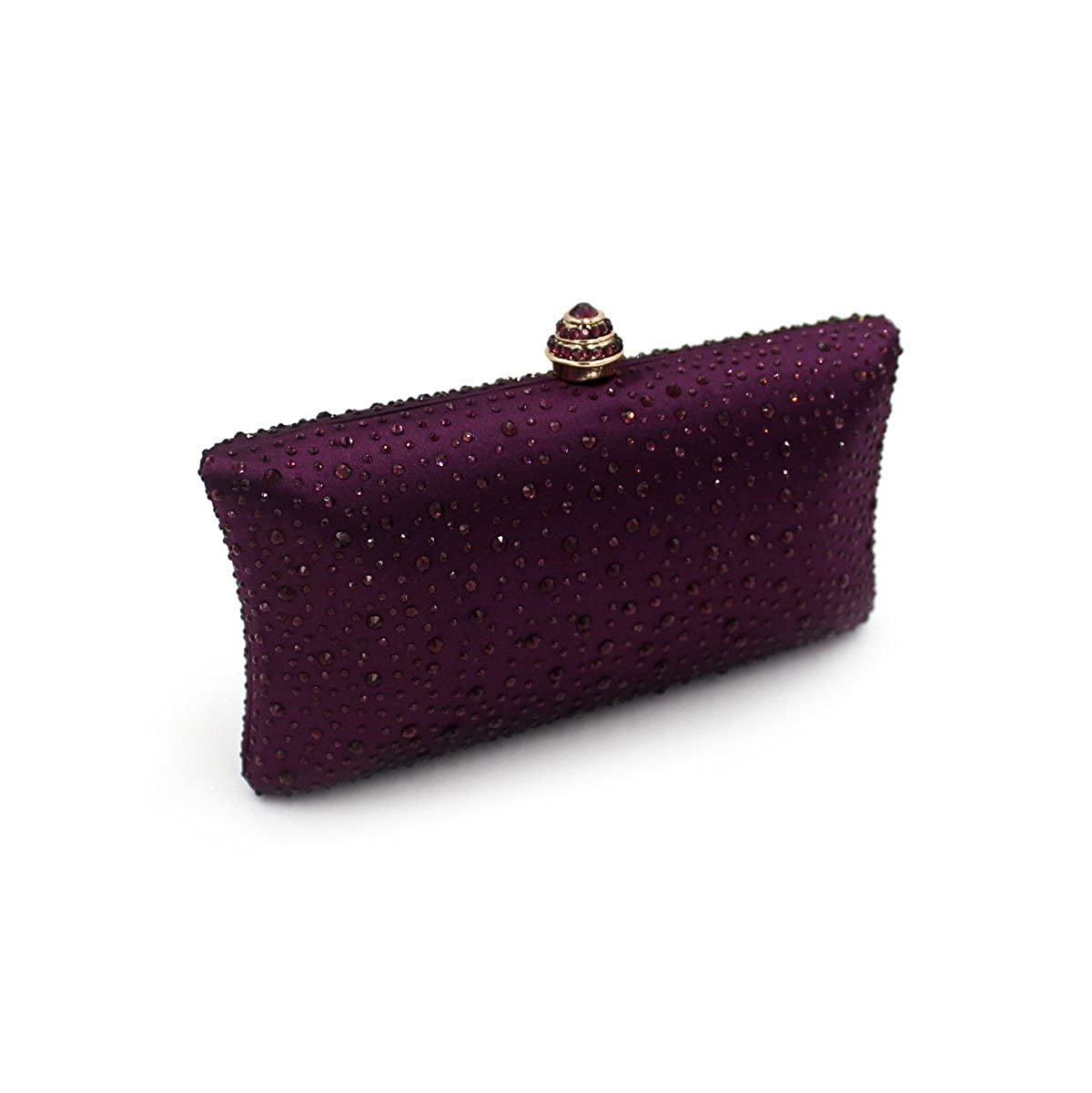 Flada Evening Clutch Bags with Full Crystal Diamonds for Ladies Wedding Prom Party