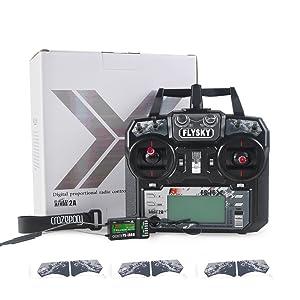 Flysky FS-i6X 2.4GHz 10CH Upgrade Flysky i6 AFHDS 2A RC Transmitter TX with iA6B Receiver and Crazepony Strap