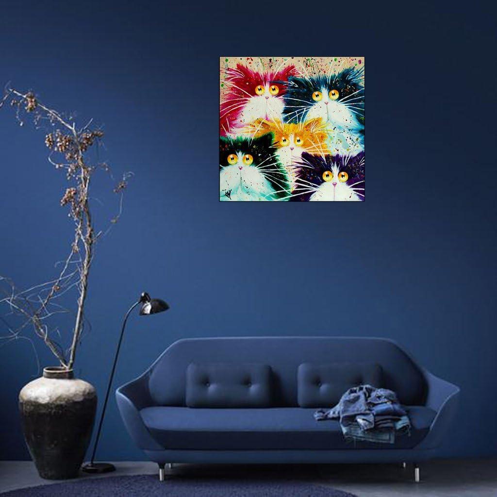 Sur Toile Abstrait Chat D/écoration Maison DIY Peinture /à lhuile par Numbers Acrylique Dessin