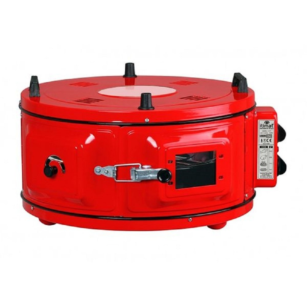 Amazon.com: RED COLOR Commercial Round Countertop Drum Oven Bakery Snack Cookie Roaster Pizza Multipurpose Oven 220V 2 Pan included: Kitchen & Dining