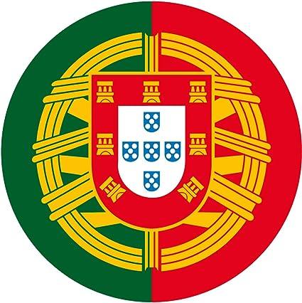 Amazon.es: Artimagen Pegatina Círculo Bandera Portugal ø 50 mm.