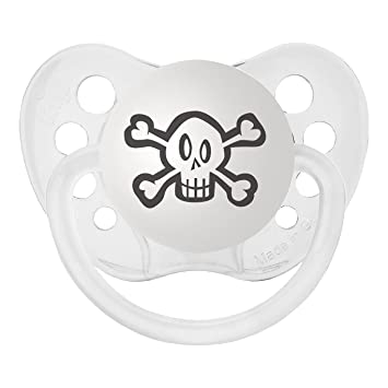 Personalized Pacifiers Skull Pacifier in Black