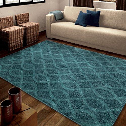 Orian Rugs Geometric Tour de Loops Blue Area Rug (5'3