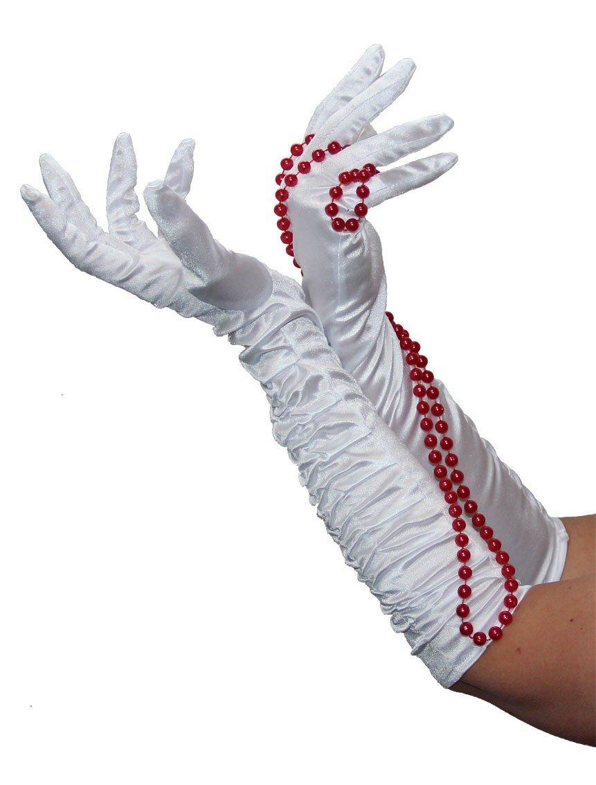 Deluxe Handschuhe lang gold gl/änzend lange Hand schuh Kost/üm Foxxeo 35255