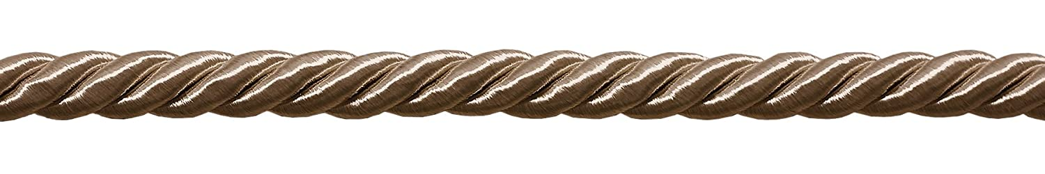 Basic Trim Collection 36 Ft. // 11m Beige Style# 0038NL Color: A8 12 Yard Package of 3//8 inch Large Dark Sand Color Decorative Cord