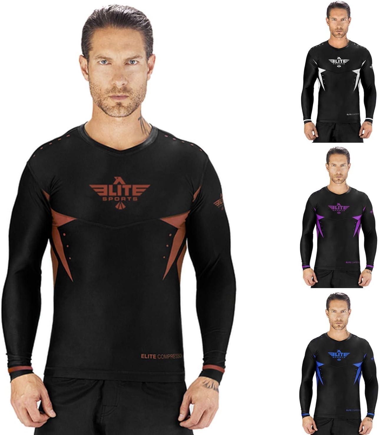 No-Gi Elite Sports Star Full Sleeve Compression BJJ MMA Cross Training Rash Guard