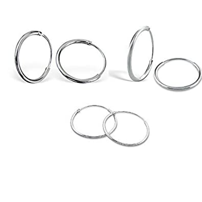 Amazoncom Sterling Silver Small Tiny Endless Hoop 8mm 10mm 12mm