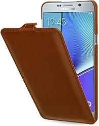 StilGut UltraSlim Case, Custodia in Pelle per Samsung Galaxy Note 5, Cognac