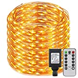 ER CHEN(TM) Dimmable LED String Lights Plug In with Remote, 338Ft 1000 LED Copper Wire Warm White Fairy Lights 8 Flashing Modes Starry Lights with Timer for Bedroom,Corridor,Patio,Garden,Yard