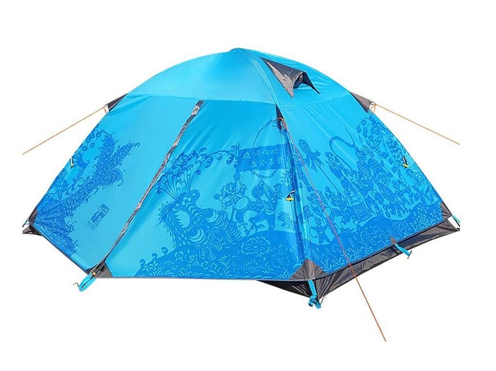 車でダブルドアの屋外10トン3-4人のキャンプテント防水走行 (色 : 青, サイズ さいず : 3.5kg) 3.5kg 青 B07G7TDSNG