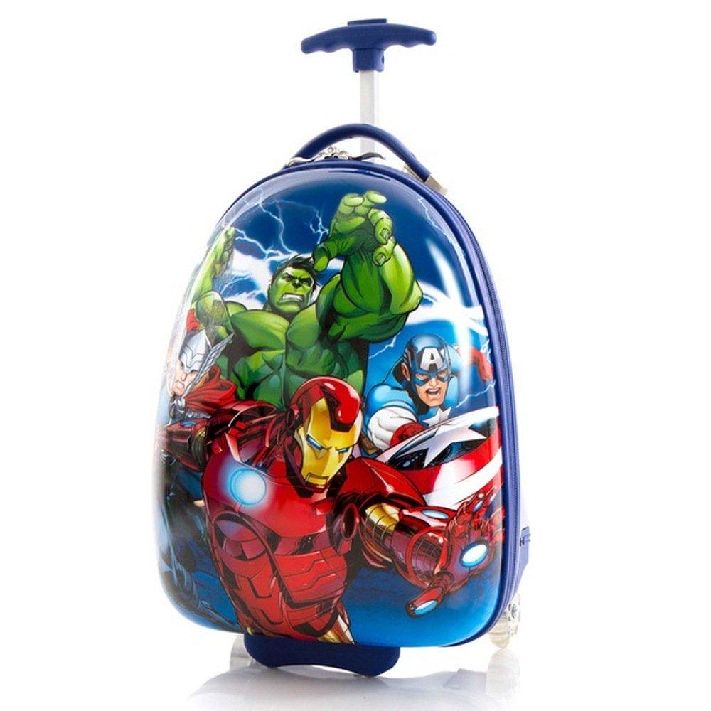 Boys Marvel Superhero Carry On Suitcase Iron Man Hulk Captain America Luggage by DH