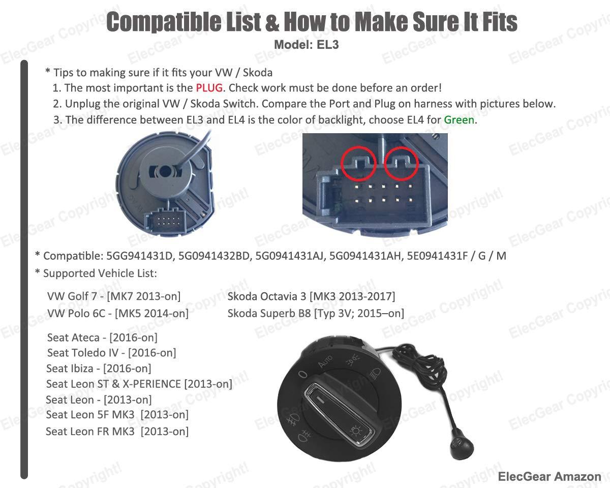 EL3 Bluetooth App Sensor de luz Faros interruptor, Faro Niebla Luces Antiniebla Interruptor de luz, Coming Leaving Home módulo relés: Amazon.es: Electrónica