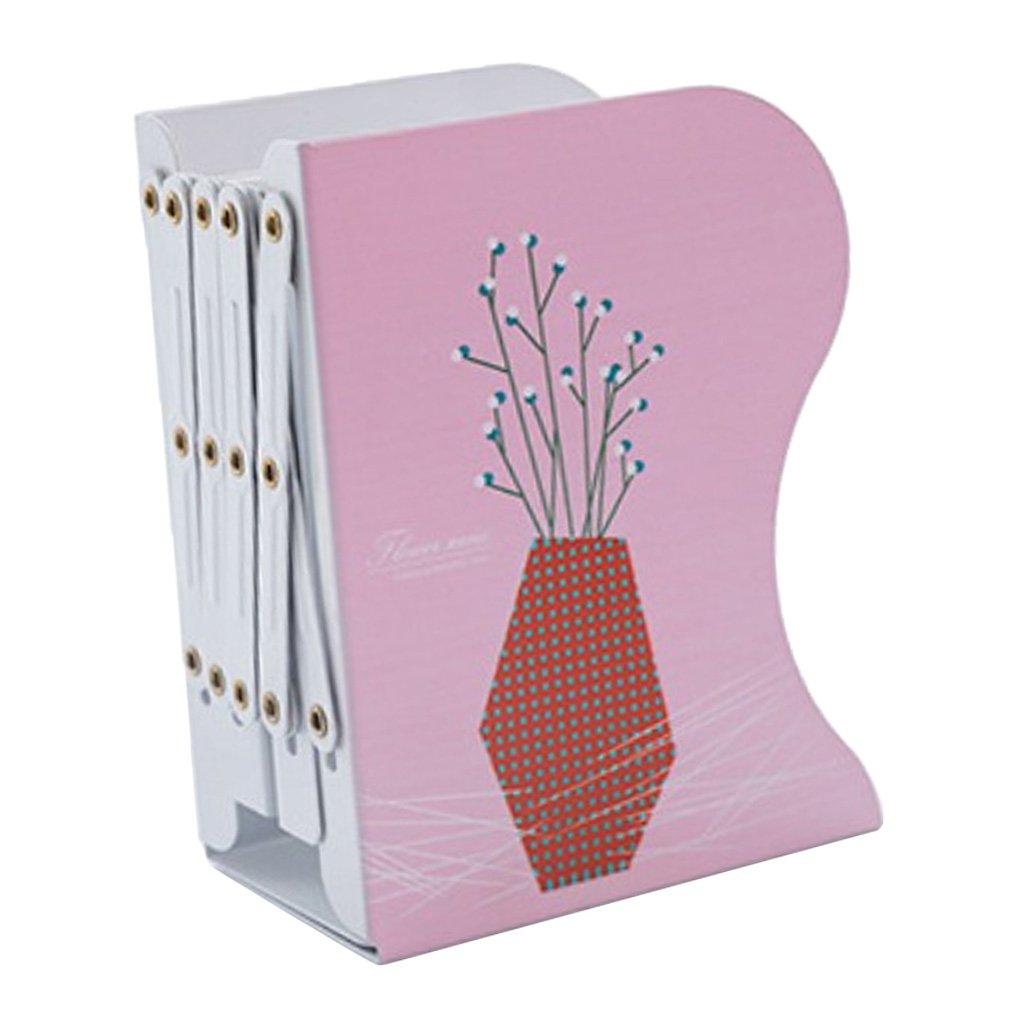 D DOLITY Creative Adjustable Bookends Metal Study Room Desktop Bookends Bookshelf Organizer Holder - #5, 15x10x19cm