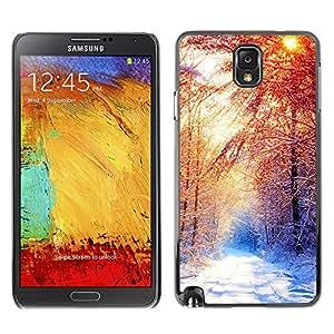 Stuss Case / Funda Carcasa protectora - Invierno Hermoso Forrest - Samsung Note 3 N9000