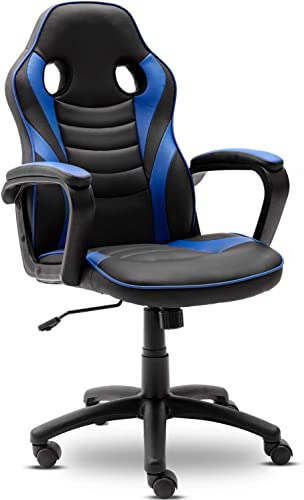 Reviewed: Gaming Chair-Ergonomic Leather Recliner Racing Computer Chair-High Back Adjustable Swivel Executive Office Desk Chair-E-Sport Video Game Chair