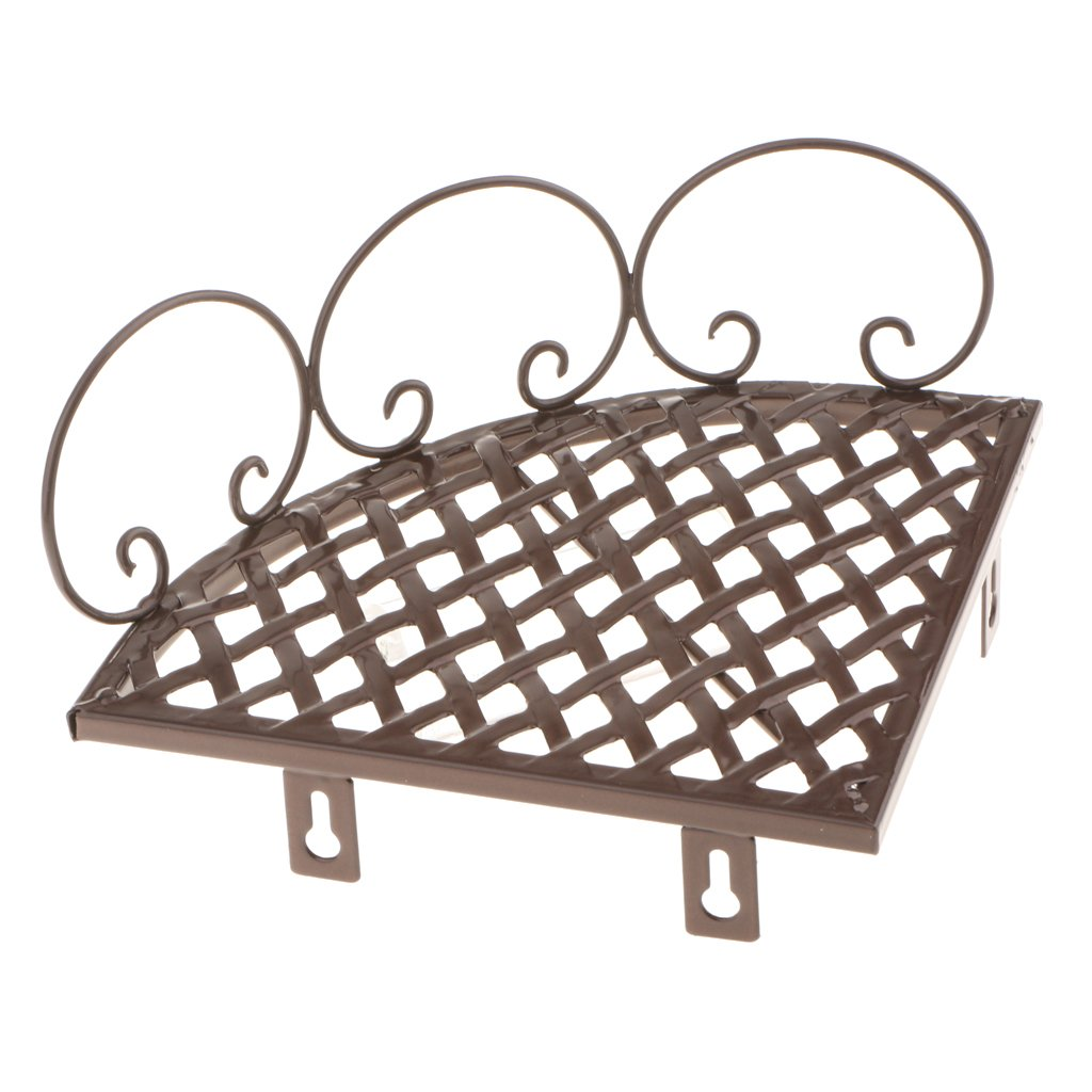 MonkeyJack Bathroom Kitchen Storage Organize Shelf Rack Triangle Shower Corner Caddy Basket Wall Mounted - Bronze