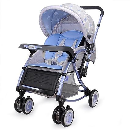 Carrito De Bebé Puede Sentarse / Mentir Plegable Rocking Ultralight Varilla De Empuje Bidireccional Trolley Neumático No ...