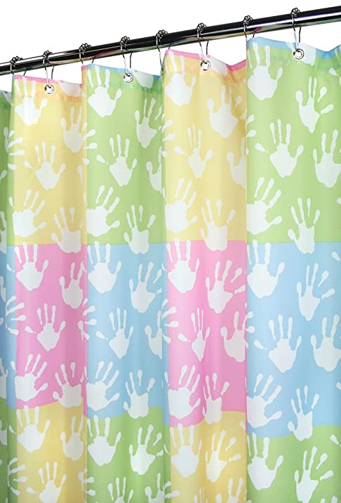 Park B Smith World Hands Watershed Shower Curtain Pastels
