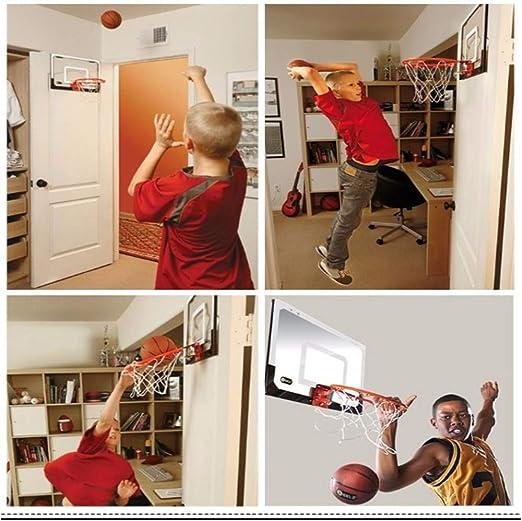 canasta peque/ña f/ácil de colgar tablero combinado a prueba de golpes y kit combinado de canasta de baloncesto para ni/ños Leisure Rebound Tablero de baloncesto transparente para colgar en la pared