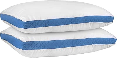 Gusseted Quilted Pillow- Hypo Allergenic and Easy Care - Premium Quality Pillows by Utopia Bedding