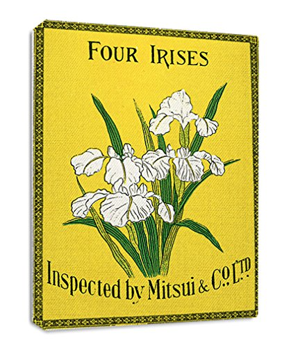 Style in Print Four Irises Japanese Vintage Poster Streched