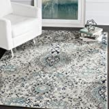 Safavieh Madison Collection MAD600C Cream and Light Grey Area Rug (8' x 10')