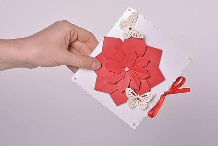 Tarjeta de felicitacion hecha a mano postal artesanal regalo ...