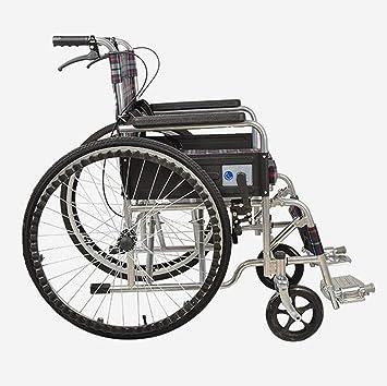 Silla de ruedas propulsada Plegable Ligera, Portátil para Discapacitados, Mayor Viaje. Scooter movil: Amazon.es: Hogar