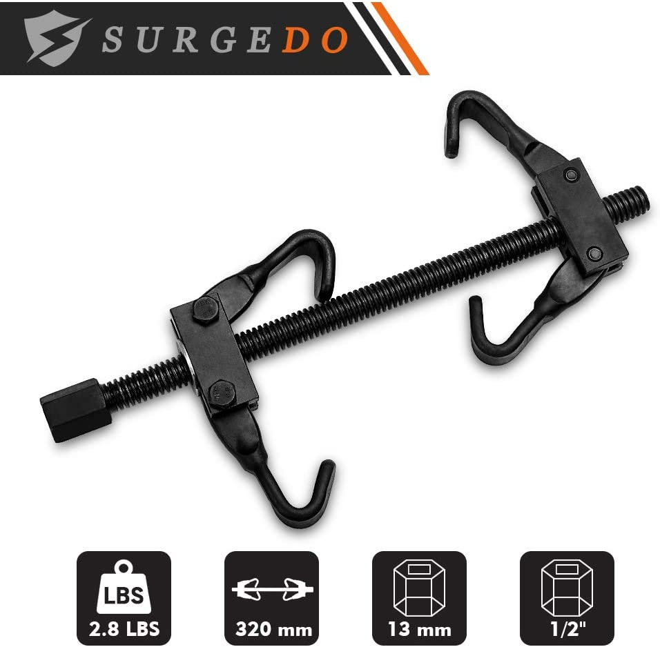 Heavy Duty Steel Hook to Hold Auto Car Spring Safely SURGEDO Coil Spring Compressor Remover Installer Tool Kit 1//2in Drive Internal Strut Compressor Tool
