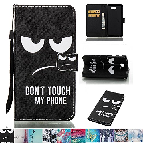 Galaxy J7 Prime Case, Galaxy On7 2016 Case, Firefish PU Leather Wallet Dual Layer [Card Slots] Kickstand Magnetic Clip Non-Slip Perfect Fit for Samsung Galaxy J7 Prime/Galaxy On7 2016 -Eyes