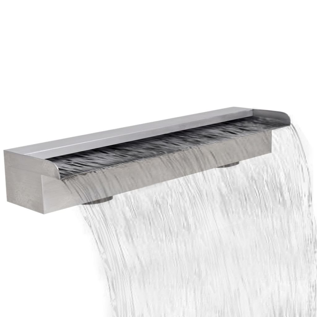 Chloe Rossetti Rectangular Waterfall Pool Fountain Stainless Steel garden waterfall with 23.6'' Connector and 0.87'' in length
