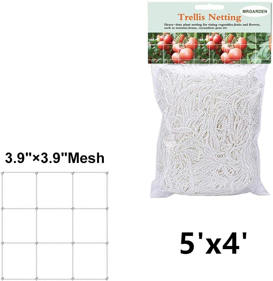 EcoTrellis planta Net, pepino, 5 x 4 ft, enrejado red de malla de ...