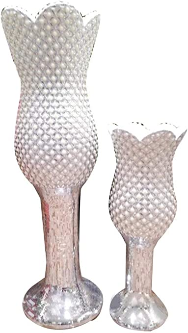Amazon Com My Aashis Ceramic Tall Goblet Wedding Centerpieces Floor Vase For Marriage Decor Home Kitchen