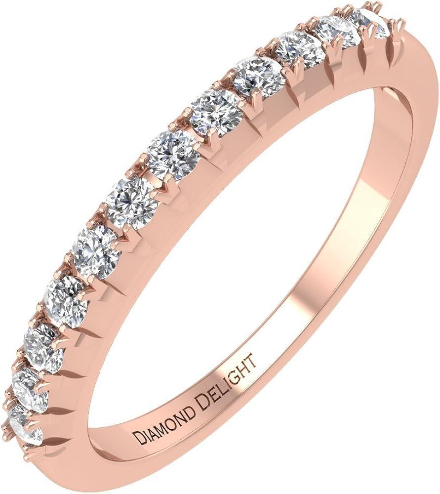 Amazon Com 10k Rose Gold French Cut Wedding Anniversary Diamond