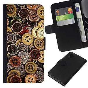 All Phone Most Case / Oferta Especial Cáscara Funda de cuero Monedero Cubierta de proteccion Caso / Wallet Case for LG Nexus 5 D820 D821 // CASINO CHIPS MONEY