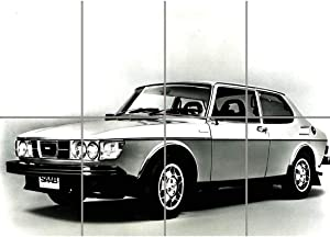 Doppelganger33 LTD Saab 99 EMS Wall Art Multi Panel Poster Print 47x33 inches