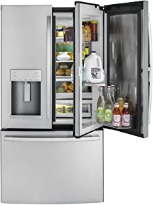 E 27.8-cu ft French Door Refrigerator with Ice Maker and Door within Door (Fingerprint-Resistant Stainless Steel Stainless Steel)