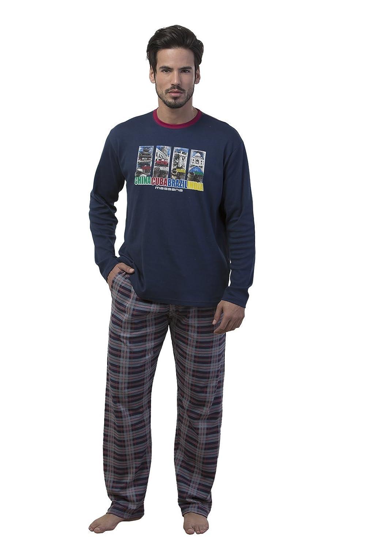 MASSANA Hombre, Pijama De Dos Piezas, Marino Noche 408, M: Amazon.es: Ropa y accesorios