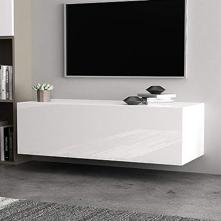 Ausla - Mueble para TV Moderno de Madera, Mueble de salón, Mueble de TV suspendido de Pared móvil, para salón, Dormitorio, Oficina, Hotel, casa, 100 x 40 x 30 cm: Amazon.es: Hogar