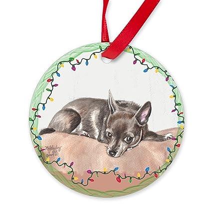 CafePress - Chihuahua Christmas Ornament (Round) - Round Christmas Ornament - Amazon.com: CafePress - Chihuahua Christmas Ornament (Round) - Round